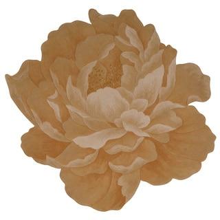 Nourison Bloom Gold Area Rug (4' Freeform)