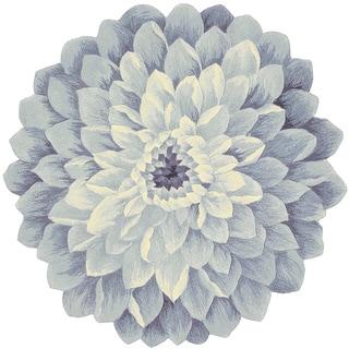 Nourison Bloom Denim Area Rug (4' Freeform)