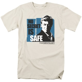 Mentalist/No Secret Is Safe Short Sleeve Adult T-Shirt 18/1 in Sand
