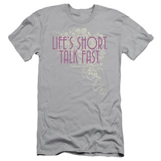 Gilmore Girls/Lifes Short Short Sleeve Adult T-Shirt 30/1 in Silver