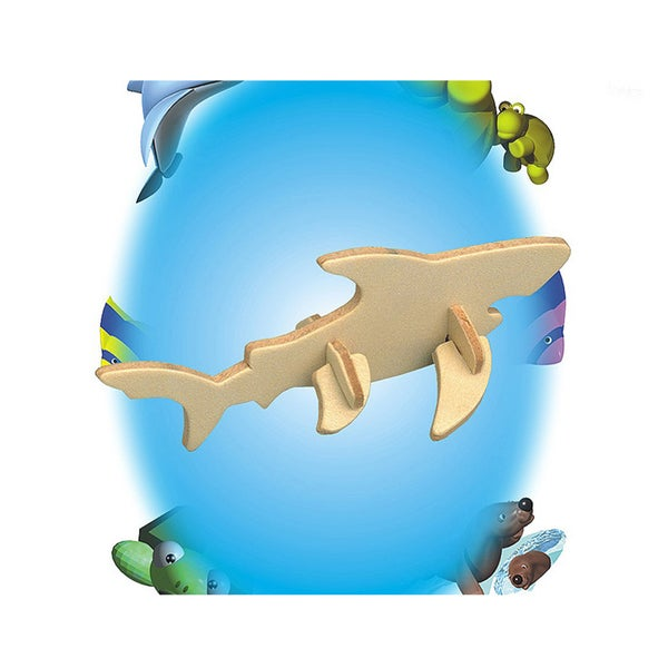 Puzzled Shark Wooden Mini 3D Puzzle