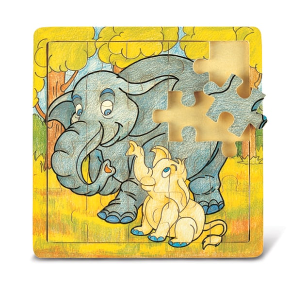 Puzzled Elephant & Baby Jigsaw Puzzle
