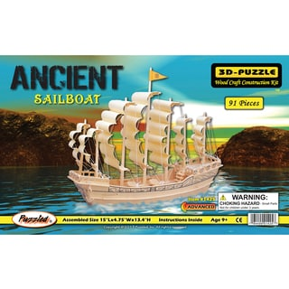 Puzzled Ancient Sailboat 3D Puzzle