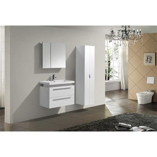 KubeBath 32-inch Wall Mount Single Sink Bathroom Vanity