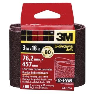 "3M 9261NA-2 2 Pack 3"" X 18"" Medium Power Sanding Belts"