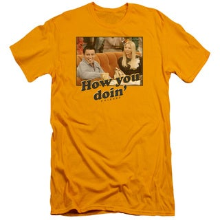 Friends/How You Doin Short Sleeve Adult T-Shirt 30/1 in Gold