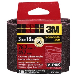 "3M 9262NA-2 2 Pack 3"" X 18"" Coarse Power Sanding Belts"