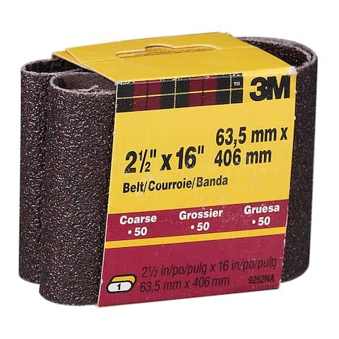 "3M 9252NA-2 2 Pack 2-1/2"" X 16"" Coarse Power Sanding Belts"