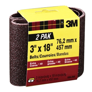 """3M 9284NA-2 2 Pack 3"""" X 18"""" Extra Coarse Power Sanding Belts"""