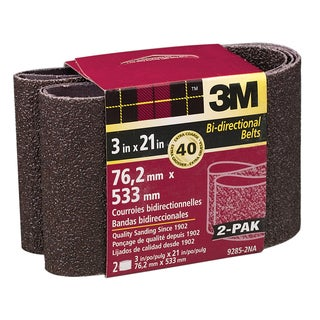 "3M 9285NA-2 2 Pack 3"" X 21"" Extra Coarse Power Sanding Belts"