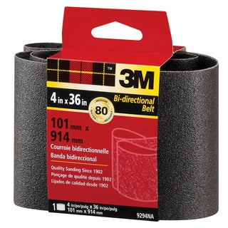 "3M 9294NA 4"" X 36"" Medium Grit Power Sanding Belts"