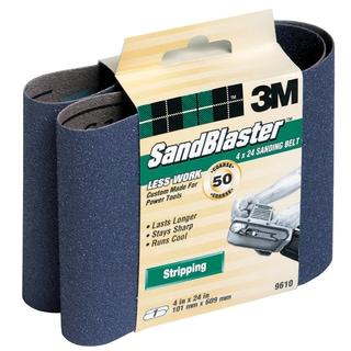 "3M 9610 4"" X 24"" 50 Grit SandBlaster Stripping Sanding Belt"