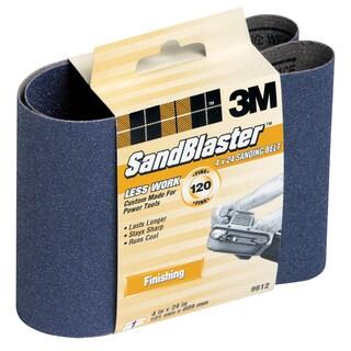 "3M 9612 4"" X 24"" 120 Grit SandBlaster Stripping Sanding Belt"