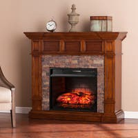 Gracewood Hollow Capriccioso Simulated Stone Convertible Infrared Electric Fireplace