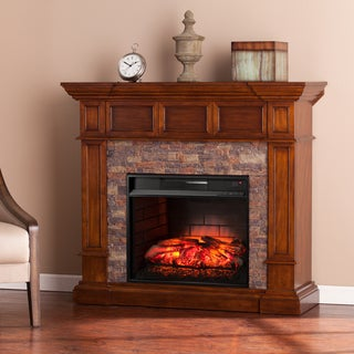 Harper Blvd Reese Simulated Stone Convertible Infrared Electric Fireplace