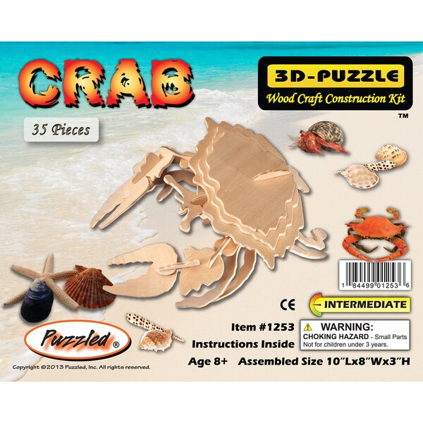 Puzzled Crab Wooden 3D Puzzle