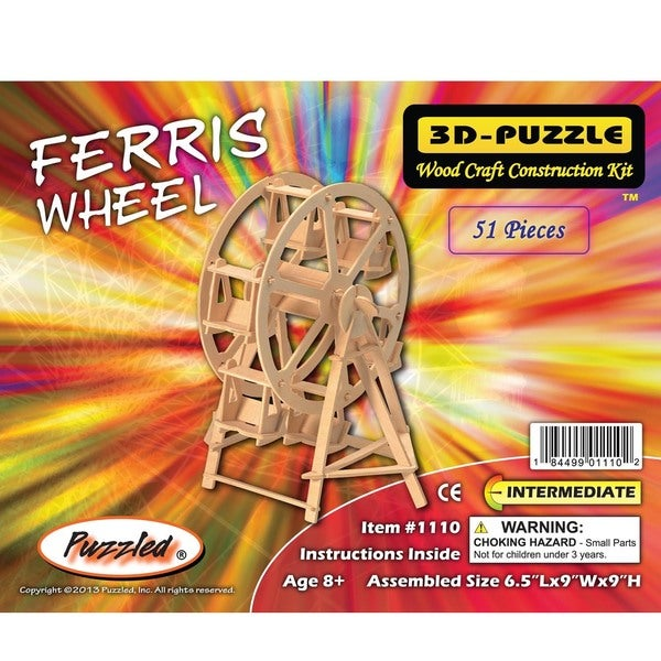 Puzzled Ferris Wheel Wooden 3D Puzzle