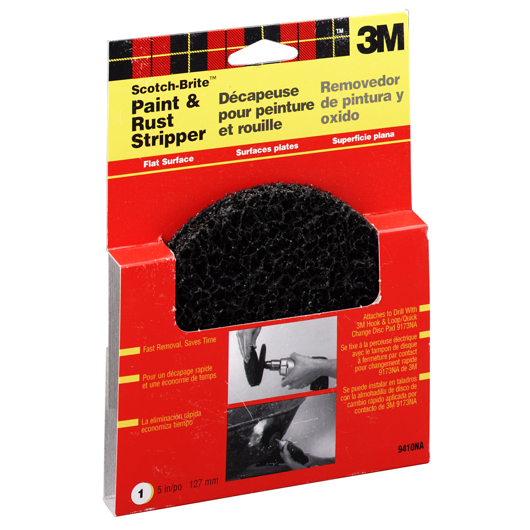 "3M 9410NA 5"" Scotchbrite Paint & Rust Stripper (Sandpaper..."