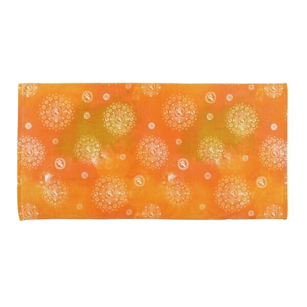 Hawaiian Tropic Orange Cotton Beach Towel