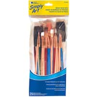 Loew-Cornell 1021086 25-count Assorted Sizes & Colors Brush Value Pack