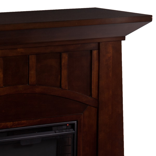 Harper Blvd Bayard Espresso Infrared Electric Fireplace - Free ...
