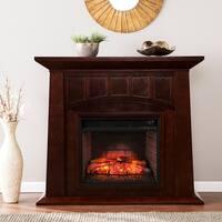 Gracewood Hollow Standbear Espresso Infrared Electric Fireplace