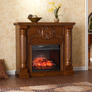 Harper Blvd Charnell Oak Infrared Electric Fireplace