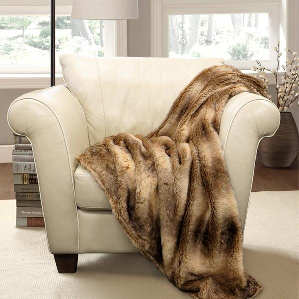 Lush Decor Graham Faux Fur Throw