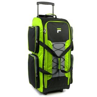 Fila 32-inch Lightweight Rolling Duffel Bag (Option: Lime)