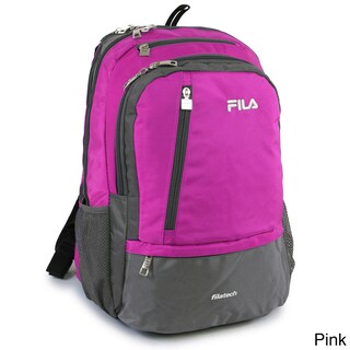 Fila Duel Tablet Laptop Backpack with 6 Pockets (Option: Pink)
