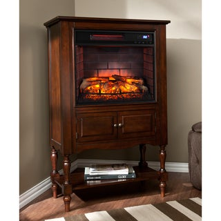 Harper Blvd Leighlin Mahogany Infrared Electric Fireplace Tower