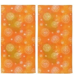 Hawaiian Tropic Orange Cotton Beach Towel (Set of 2)