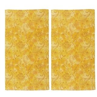 Hawaiian Tropic Yellow Cotton Beach Towel (Set of 2)