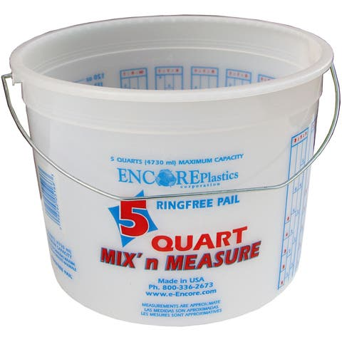 Encore 05166-300043 5 Quart Mix'n Measure Pail With Wire Handle