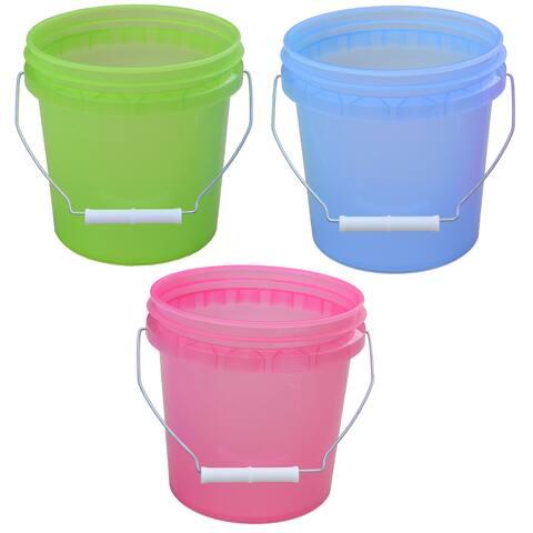 Encore 11128-201861 1 Gallon Plastic Translucent Pails