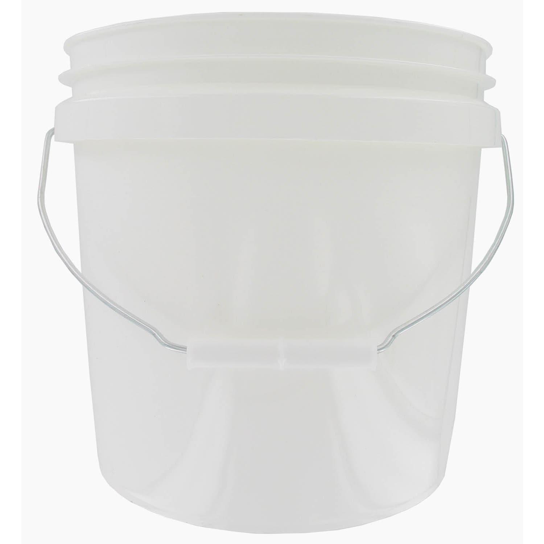 ENCORE 20256-201213 2 Gallon White Plastic Pail With Hand...