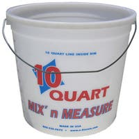 Encore 20325-300409 10 Quart Mix'n Measure Pail With Wire Handle