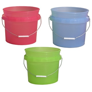 Encore 31448-250051 3.5 Gallon Plastic Translucent Pails