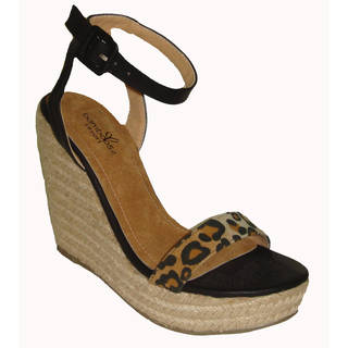 Handmade Cymon Leopard Wedge (China)