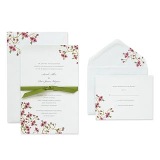 Brides Ivory Cardstock 40-count Cherry Blossom Invitation Kit