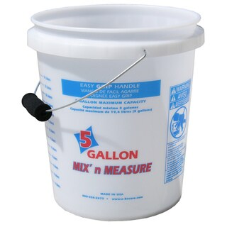 Encore 56511-350001 5 Gallon Mix'n Measure Pail With Foam Grip Handle