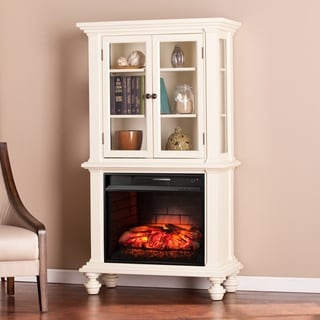 Harper Blvd Knox Antique White Infrared Electric Fireplace Curio