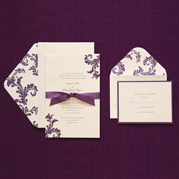 Brides Wedding Invitation Kit: Shop Brides Purple Invitation Kit (Case Of 40)