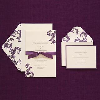 Gentil Brides Purple Invitation Kit (Case Of 40)