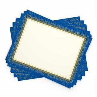 Blue/Gold Paper Award Certificates (15 count) https://ak1.ostkcdn.com/images/products/12417242/P19235617.jpg?impolicy=medium