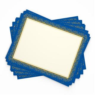 Blue/Gold Paper Award Certificates (15 count)