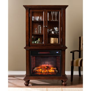 Harper Blvd Blexham Espresso Infrared Electric Fireplace Cabinet