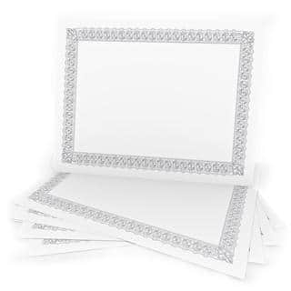 15-count White Silver Foil Certificates https://ak1.ostkcdn.com/images/products/12417258/P19235642.jpg?impolicy=medium