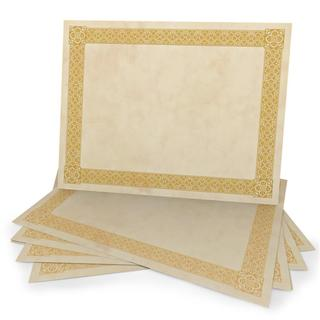 15-count Gold Foil on Parchment Certificates