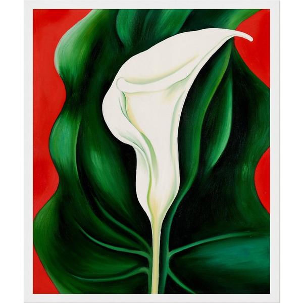 Beautiful Georgia O'Keeffe 'Single Calla Lily (Red), 1923' Hand Painted  GE44